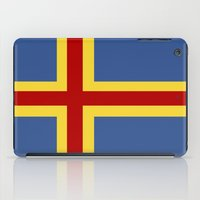 finland iPad Cases featuring aaland country flag finland by tony tudor