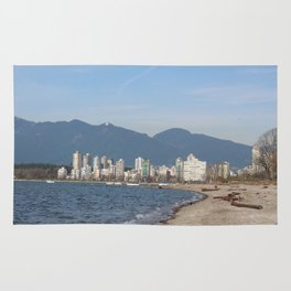 View of Vancouver from Kits Beach Rug