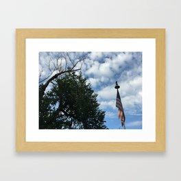 clouds & tattered patriotism Framed Art Print
