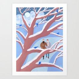 Little Birds of Winter Art Print