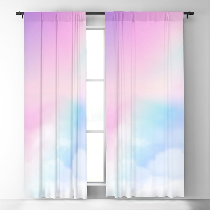 Pretty Rainbow Blackout Curtain