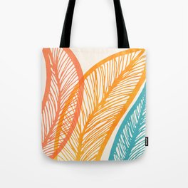 Tropical Flora - Retro Palette Tote Bag
