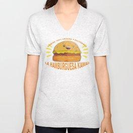 kawaii burger Unisex V-Neck