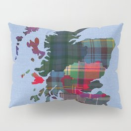 Scotland Counties Fabric Map Art Pillow Sham