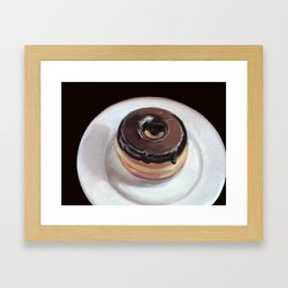 Chocolate Donut Framed Art Print