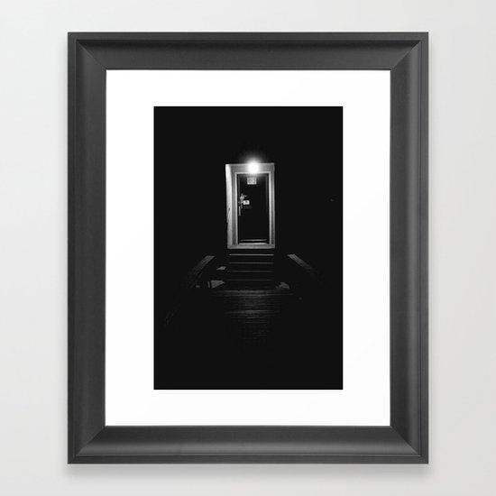 Doorway in the Dark Framed Art Print
