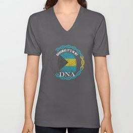 Bahamas Its In My DNA Unisex V-Neck