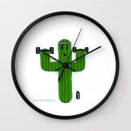 Gym Bro Cactus Wall Clock
