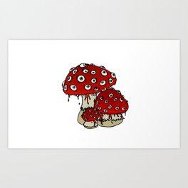 Toad-Eating Mushrooms Art Print