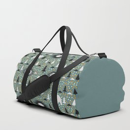 Winter pattern with deer, bears and dots Duffle Bag