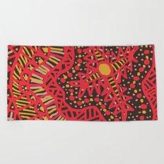 Doodle 16 Red Beach Towel
