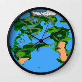 Final Fantasy II Japanese Overworld Wall Clock