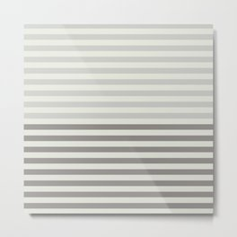 Minimal Half Stripes Metal Print