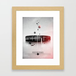 Perception Disorder / White Framed Art Print