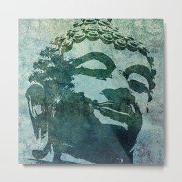 Tinted Texture Buddha I Metal Print