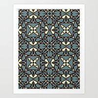 yellow pattern Art Prints featuring Pattern Yellow by Annabelle A.