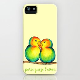 Love Birds on a Branch iPhone Case