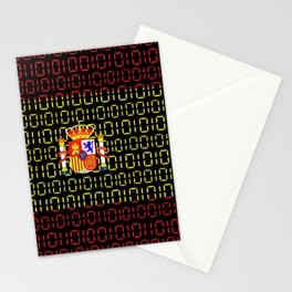 digital Flag (spain) Stationery Cards