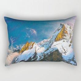 """Oil painting """"Mountain"""" Rectangular Pillow"""