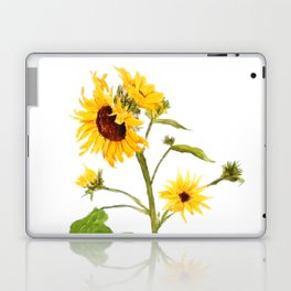 One sunflower watercolor arts Laptop & iPad Skin