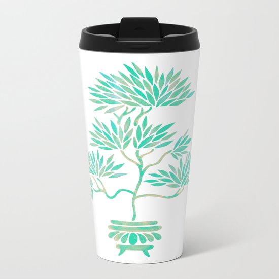 Bonsai Tree – Mint Palette Metal Travel Mug