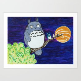 Midnight Totoro Art Print
