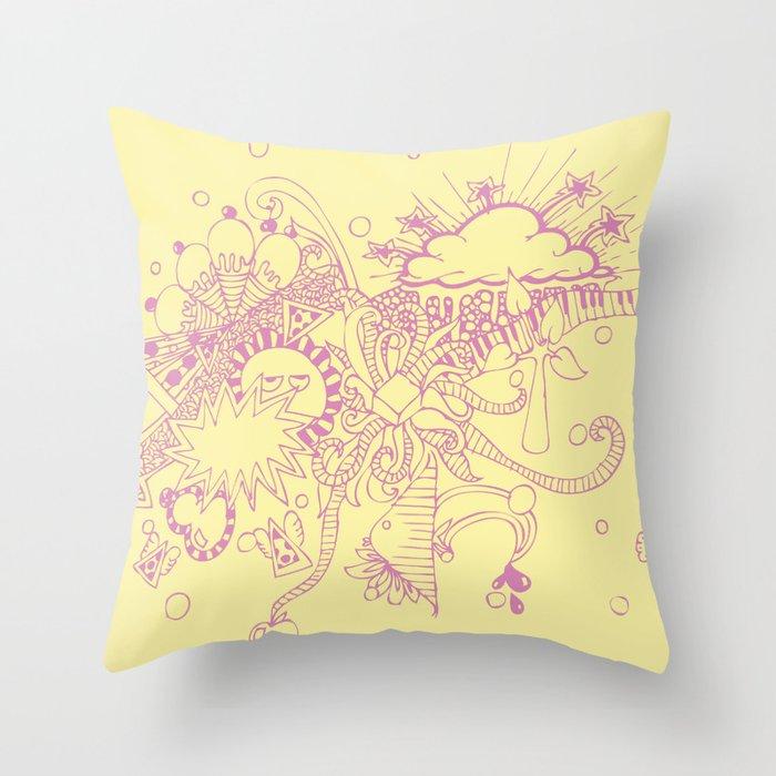 doodle Throw Pillow