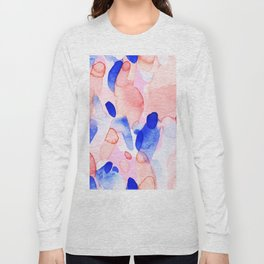 Abstract brushstrokes modern color collage Long Sleeve T-shirt