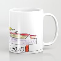 thanksgiving Mugs featuring Thanksgiving Feast by Ryan van Gogh