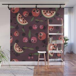Fruit mix pattern Wall Mural