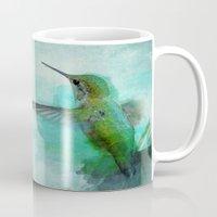 hummingbird Mugs featuring Hummingbird by Marvelis