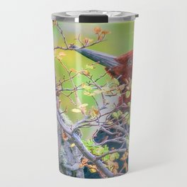Woodpecker at Forest Pecking Tree, Patagonia, Argentina Travel Mug