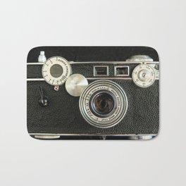 Vintage Range finder camera. Bath Mat