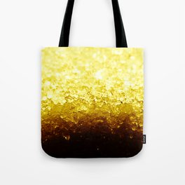 Golden Yellow Ombre Crystals Tote Bag