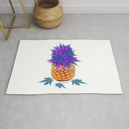 Cool Cannabis Pineapple Rug