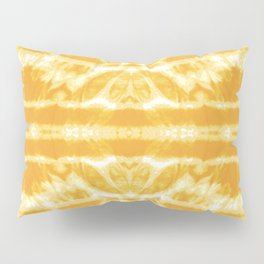 Yellow Tie Dye Twos Pillow Sham