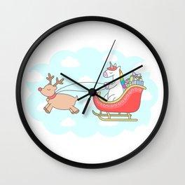 Unicorn Sleigh Wall Clock