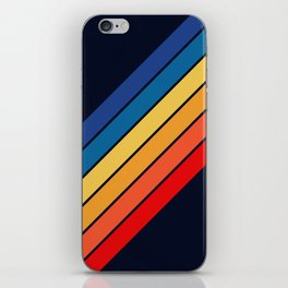 Medussa - Classic Colorful 70s Vintage Style Retro Summer Stripes iPhone Skin