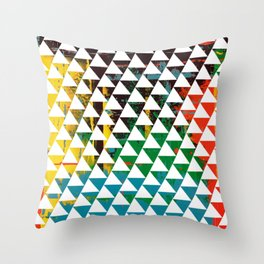 Color Chrome -geometric graphic Throw Pillow