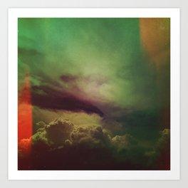 rising clouds Art Print