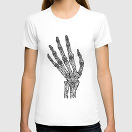 Jewelled Skeleton Hand T-shirt