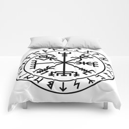 Vegvisir with futhark Comforters