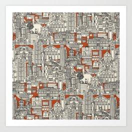 Hong Kong toile de jouy Kunstdrucke