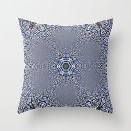 Blue Star Kaleidoscope Throw Pillow