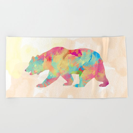 Abstract Bear Beach Towel
