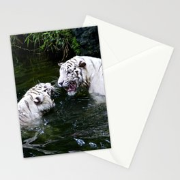 Tigers Fight Stationery Cards