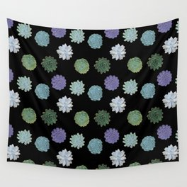 Succulent plant pattern Wall Tapestry