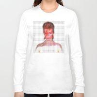aladdin Long Sleeve T-shirts featuring Bowie : Aladdin Sane Pixel by Stuff.