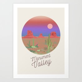 Monument Valley illustration Art Print