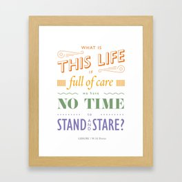 What is this life? Framed Art Print
